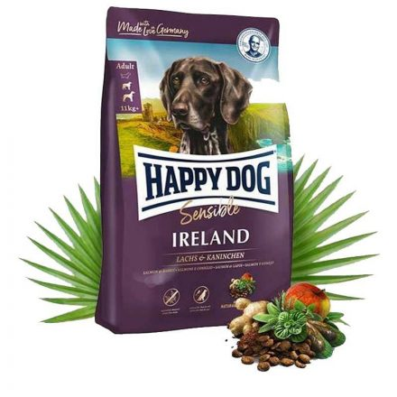 Happy Dog Kutyatáp Sensible Ireland Lazac+Nyúl  4Kg