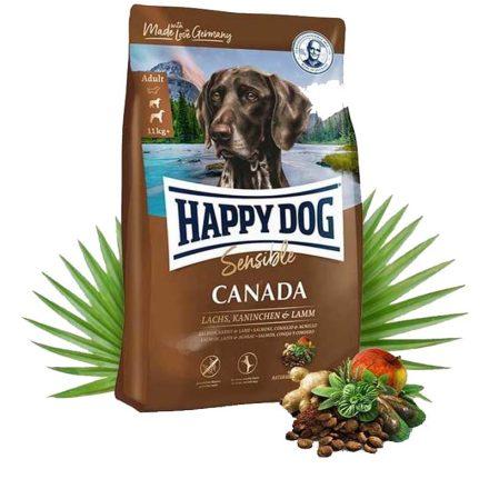 Happy Dog Kutyatáp Sensible Canada Lazac+Nyúl+Bárány  12,5Kg