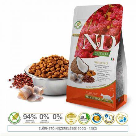 N&D Cicatáp  Quinoa Skin&Coat Hering  1,5Kg