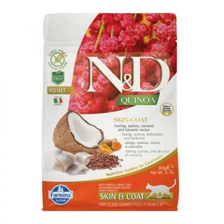 N&D Cicatáp  Quinoa Skin&Coat Hering  300G