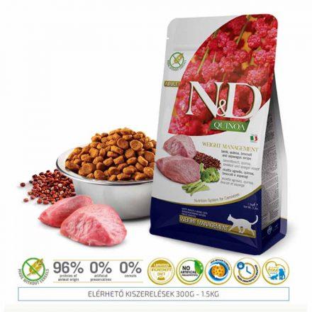 N&D Cicatáp  Quinoa Weight Management Bárány  1,5Kg