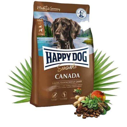 Happy Dog Kutyatáp Sensible Canada Lazac+Nyúl+Bárány  4Kg