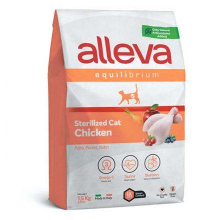 Alleva Equilibrium Cicatáp Adult Chicken Sterilized  1,5Kg