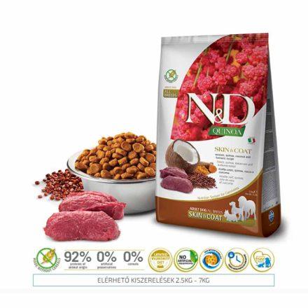 N&D Kutyatáp Quinoa Adult Skin&Coat Vadhús  800G