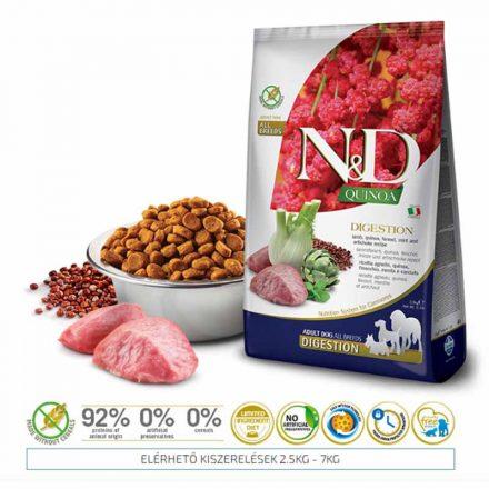 N&D Kutyatáp Quinoa Adult Digestion Lamb  2,5Kg