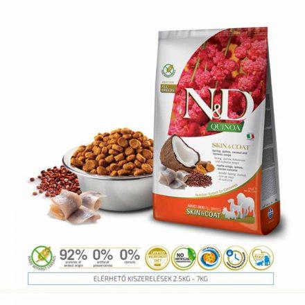 N&D Kutyatáp Quinoa Adult Skin&Coat Hering  2,5Kg
