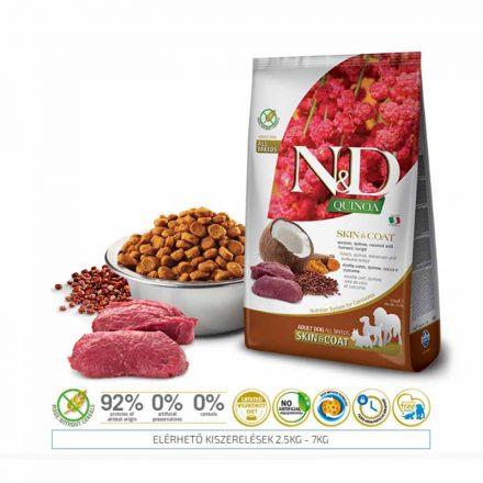 N&D Kutyatáp Quinoa Adult Skin&Coat Vadhús  2,5Kg