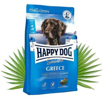 Happy Dog Kutyatáp Sensible Greece Bárány+Garnéla+Tintahal  4Kg