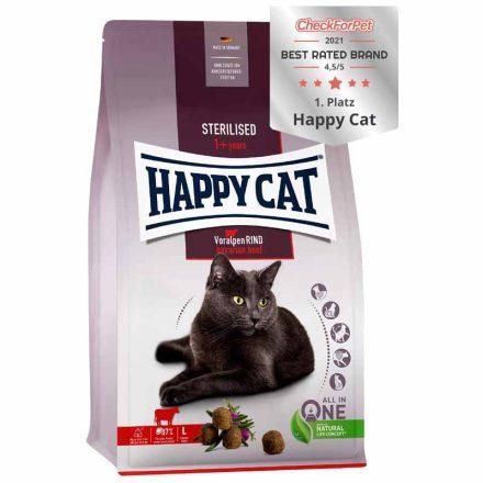 Happy Cat Cicatáp Fit&Well Adult Sterilised Marha  4Kg